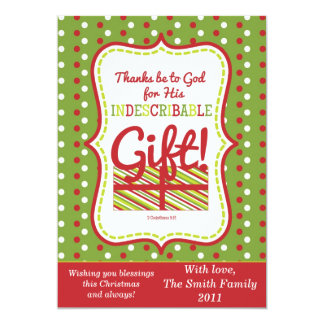 Scripture Christmas Card 2Sided-Indescribable Gift
