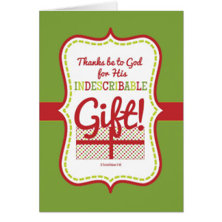 Scripture Christmas Card-Indescribable Gift-BLANK!