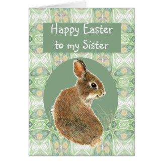 Scripture Easter Greetings Sister Cute Rabbit Card
