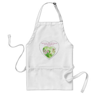 Scripture Hebrews 19:5 Never will I leave You Adult Apron