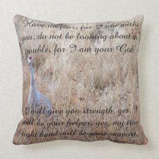 Scripture Isaiah Dolphin Beach/Crane Bird Pillow