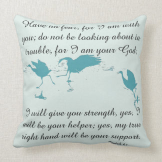 Scripture Isaiah Dolphin Beach/Crane Birds Pillow