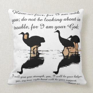Scripture Isaiah Dolphin Beach/Cranes Birds Pillow