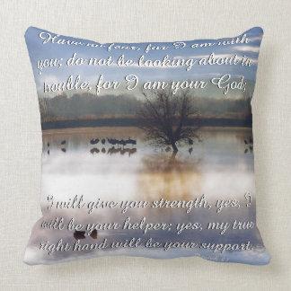Scripture Isaiah Dolphin Beach/Cranes Dawn Pillow