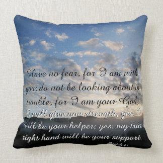Scripture Isaiah Dolphin Beach/Lake Dawn Pillow