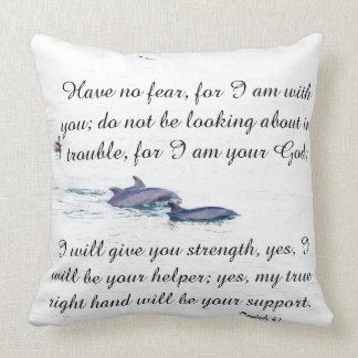 Scripture Isaiah Dolphins Pelican Beach Pillow