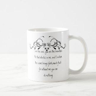 Scripture, John 5:15 I am the Vine Classic White Coffee Mug
