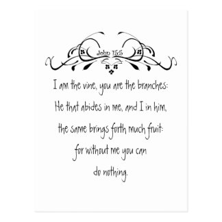 Scripture, John 5:15 I am the Vine Postcard