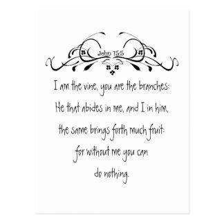 Scripture, John 5:15 I am the Vine Postcard