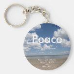 "Scripture Keychain ""PEACE"""