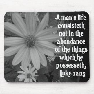 SCRIPTURE LUKE 12:15 MOUSE PAD
