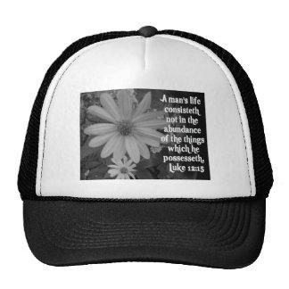SCRIPTURE LUKE 12:15 TRUCKER HAT