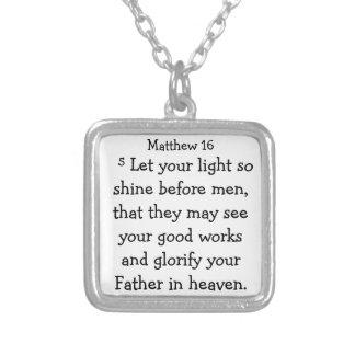 Scripture Necklace Bible Verse Matthew