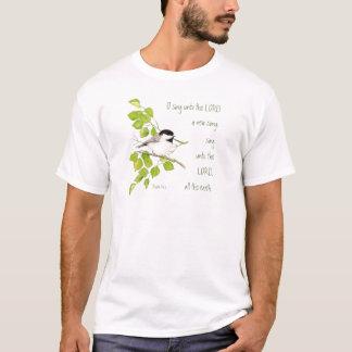 Scripture, O Sing Unto the Lord, Music Bird T-Shirt
