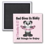 Scripture Panda Bear Magnet