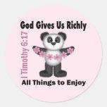Scripture Panda Bear Sticker