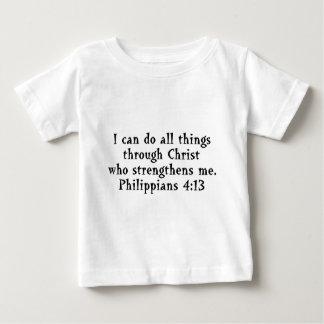 scripture Phil 4:13 Baby T-Shirt