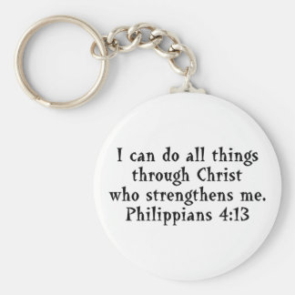 scripture Phil 4:13 Keychain
