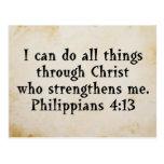 scripture Phil 4:13 Postcard