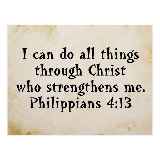 scripture Phil 4:13 Postcards