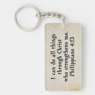 scripture Philippians 4:13 Keychain