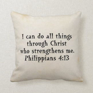 scripture philippians 4:13 throw pillow