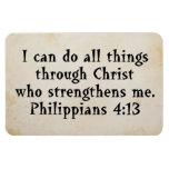 scripture philippians 4:13 rectangular photo magnet