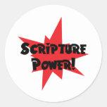 Scripture Power Classic Round Sticker