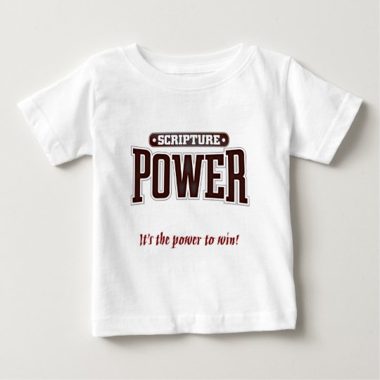 Scripture Power. Red Baby T-Shirt