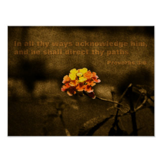 Scripture Proverbs 3:6 Poster