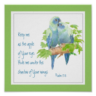 Scripture, Psalm 17:8 Under Your Wing Poster