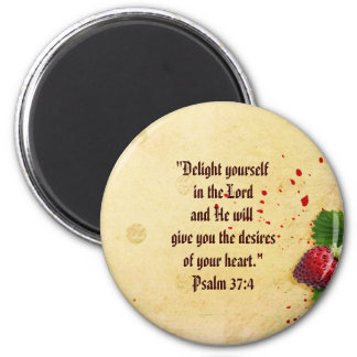 Scripture Psalm 37 magnet