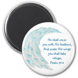 Scripture Psalm 91:4 Refuge Under His Wings Verse Magnet