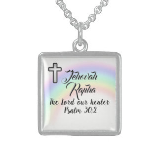 Scripture small sterling silver finish necklace