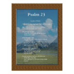 Scripture Template,  Psalm 23 Poster