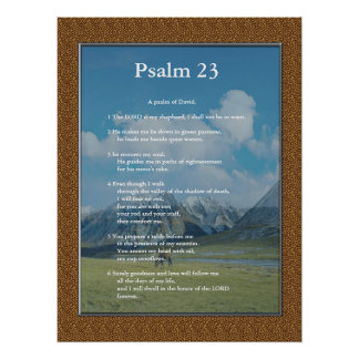 Scripture Template,  Psalm 23 Print