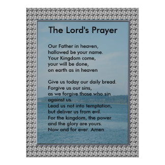 Scripture Template - The Lord's Prayer Poster