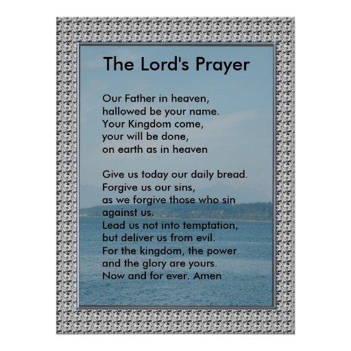 Scripture Template - The Lord's Prayer Posters