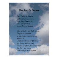 Scripture Template - The Lord's Prayer Print