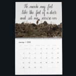 """Scripture Verse 2018 Hand Lettered Calendar<br><div class=""""desc"""">This 2018 Scipture Calendar features an assortment of photographs with hand lettered verses on each one. The verses come from the Psalms,  as well as Proverbs,  Colossians,  and more.</div>"""