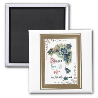 Scripture With Flowers Magnet
