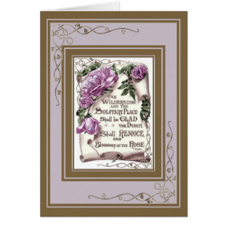 Scripture With pink Roses Card