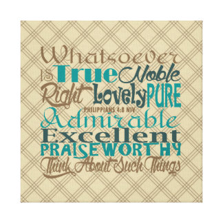 Scripture Word Art Wrapped Canvas Print