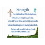 scriptures of strength postcard