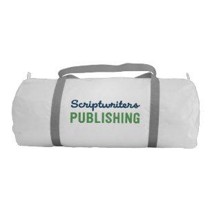 Scriptwriters Deep Blue Lime Green Duffle Bag 48b2283c3b886