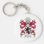 Scriven Family Crest Key Chain