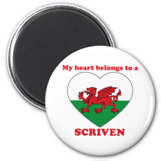 Scriven 2 Inch Round Magnet