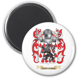 Scrivener Coat of Arms (Family Crest) 2 Inch Round Magnet