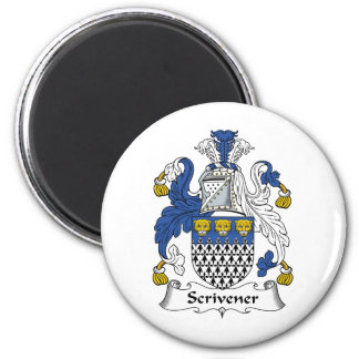 Scrivener Family Crest 2 Inch Round Magnet