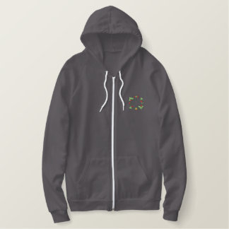 Scroll 1689 embroidered hoodie